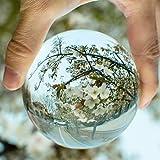 Preup K9 Klar Kristallkugel Glaskugel Wahrsagerkugel Dekokugel, Kristallkugel Fotografenqualitaet, für Feng Shui/Wahrsagung oder Hochzeit/Hause/Büro Dekoration- 80 mm