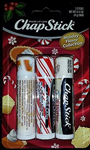 Chapstick Holiday Flavor Collection - Pumpkin Pie, Candy Cane & Cake Batter by Chapstick