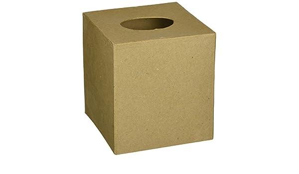 Darice Paper Mache Tissue Box-5X5