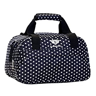 Slimbridge Mora 35x20x20cm pequeña bolsa de equipaje de mano de Ryanair, Negro Polka Dot