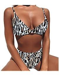 722d58c77047f Dehots Sexy Damen Bikini Set Bademode Badeanzüge Bikinis für Frauen Mädchen  Bandeau Push Up mit Bügel