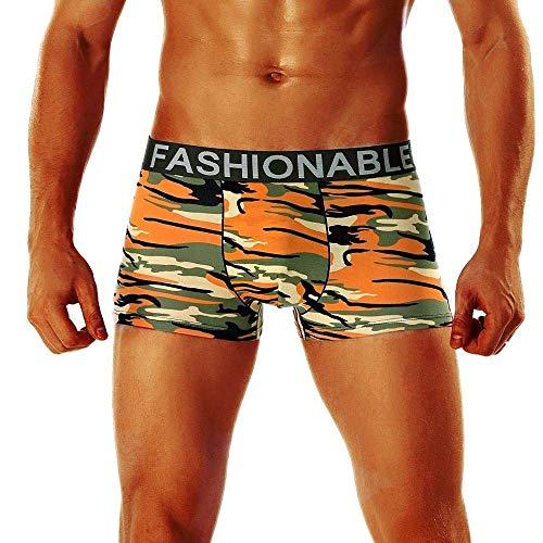 Anaisy Herren Plus Size Tarn Boxershorts Camouflage Herren Baumwolle Weichen Unterhose Buchstabe Boxershort Jungen Panty (Color : D, Size : XL)