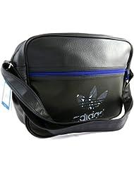 Bolsa de hombro 'Adidas'azul negro (37x28x11 cm).