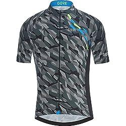 Gore Bike Wear 100030 Maillot, Hombre, Negro/Azul (Dynamic Cyan), XL