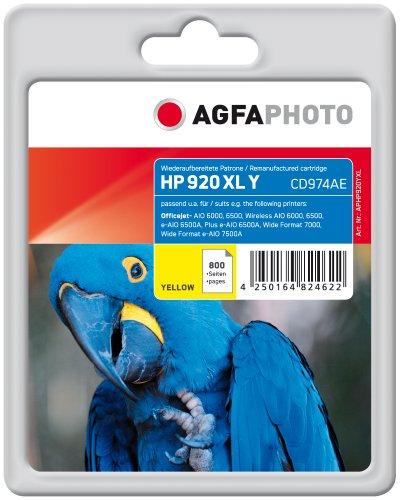 Preisvergleich Produktbild AgfaPhoto APHP920YXL Tinte für HP OJ6000, 11 ml, gelb