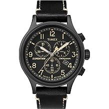 220c6708fb95 Timex Reloj Cronógrafo para Hombre de Cuarzo con Correa en Cuero TW4B09100