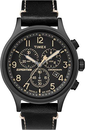 Timex Expedition Scout Chrono Orologio Cronografo Quarzo Uomo con Cinturino in Pelle TW4B09100