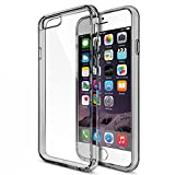#5: iPhone 6s Case, Case U® [Fusion Series] Shock Absorption Technology Clear back panel + TPU bumper for iPhone 6/6S - Smoke Black