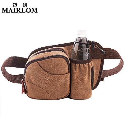 MSZYZ Weihnachtsgeschenke Multi-Funktionale Hüfttasche Outdoor Gürteltasche Brust Tasche Kaffee