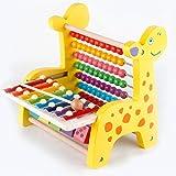 Lance Home Triple Kinder-Bildungs-Spielzeug, Spielzeug Musikinstrument Xylophone + Zählung der frühen Kindheit Lernspielzeug Spielzeug aus Holz Baby-Aufklärung Lehre