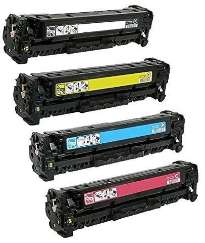Pack 4 Compatibles Toner Laser pour HP Color LaserJet Pro M252dw, M252n, MFP M277dw, MFP M277n | Remplacement pour HP 201X (CF400X, CF401X, CF403X, CF402X) | Noir: 2800 Pages & Cyan/Magenta/Jaune: 2300 Pages