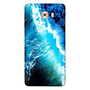 CrazyInk Premium 3D Back Cover for Samsung C7 Pro - Water Tides