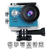 Yuntab W9 Action WIFI Caméra, angle de 170 °, Full HD 1080P HDMI TV Port 30M étanche, enregistreur vidéo numérique parfait de 12 mégapixels pour sports extrêmes, Bleu