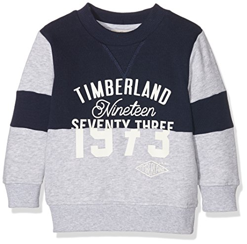 Timberland T25L27 Sweatshirt, Felpa Bambino, Blu (Navy), 4 Anni