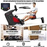 Sportstech Rudergerät RSX500 mit Smartphone steuerbar - Pulsgurt im Wert von 39,90 inkl. - Fitness App - 16 Programme - Magnetwiderstand - Wettkampfmodus - klappbar (RSX500 - Aufgebaut)