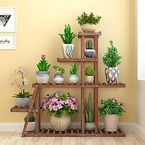 blumen pflanzenst nder regal holzst nder blumenregal gartenpflanzenst nder f r blument pfe. Black Bedroom Furniture Sets. Home Design Ideas