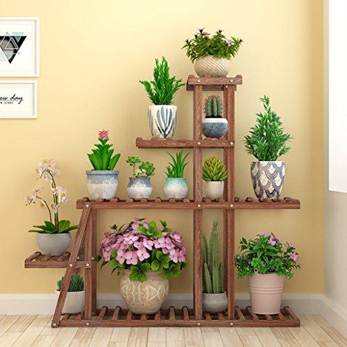 Blumen- / Pflanzenständer/Regal Holzständer Blumenregal Gartenpflanzenständer für Blumentöpfe...