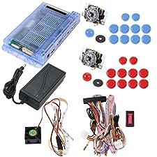 [Inglese]999 in 1 Giochi di Pandora Box 5S Arcade macchina Console 2 Player bastoni DIY kit bundle con cavo di alimentazione, cavo di cablaggio, 2 giocatori 5-pin joystick, tasti Arcade, HDMI e VGA