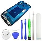 TOKA-VERSAND® - Front Rahmen für Samsung Galaxy S4 LTE [i9505] Frontrahmen für Display Silber Gehäuse Frame Cover mit 8X teiliges Werkzeug [magnetisch]