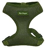 Hip Doggie HD-6PMHGR Ultra Comfort Harness Vest Hundegeschirr, M, olivegrün