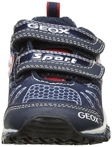 Geox J Bernie B, Sneakers Basses Garçon Bleu (Navy/redc0735)