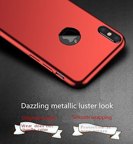 iphone 8 Case, Ultra-thin Metallic Texture Anti-fingerprint/skid/fade Protective PC Back Phone Cover Case for iphone x Oro