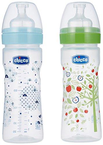 Chicco Bi Pack Blue & Green 250Ml Feeding Bottle