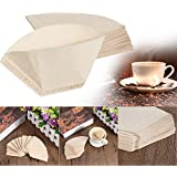 Pinkdose® Useful 40Pcs/Lot Hand-Poured No. 101 Coffee Paper Filter Hand Drip Folded For Filter Bowl Drip Coffee Machine Kitchen Cafe Tool