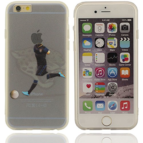 Design unico vario modello club di calcio di plastica duro della calotta di Custodia protezione di caso case per Apple iPhone 6 plus / 6S plus 5.5 inch nero