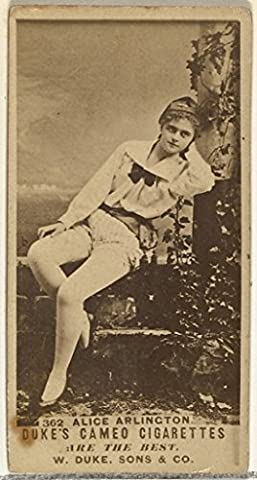Card Number 362 Alice Arlington from the Actors and Actresses series (N145-5) issued by Duke Sons & Co. to promote Cameo Cigarettes Fine Art Print (45.72 x 60.96 cm)