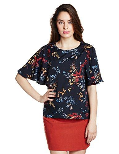 Symbol Women's Flutter Sleeve Top (WBL232B_Navy_XX-Large)