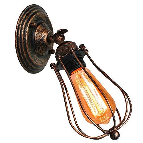 Vintage Lámpara de Pared Retro Industrial Aplique Ajustable Rustica Iluminación de Pared Interior...