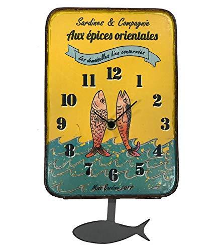 Horloge Murale avec Balancier Boîte Sardines et Compagnie