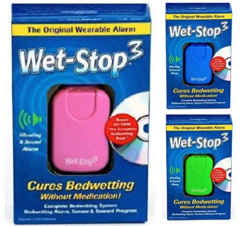 Wet-Stop3 Rosa: Allarme enuresi con Suono and vibrazione per ragazzi e ragazze soluzioni per enuresi (Giacca Ragazzi Sistema)