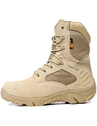 FCBDXN Botas Del Ejército Del Delta Botas De Combate De Alta Gama Para Hombres Del Desierto Fuerzas Especiales Zapatos De Asalto Entrenados Tácticas Calzado Armado