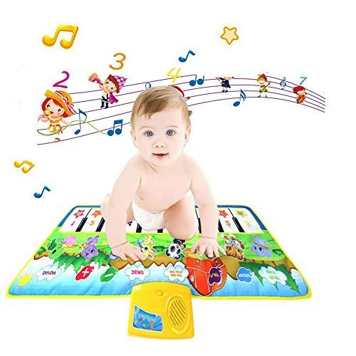 aheadad Kinder Musikspielzeug Baby Musik Teppich Multifunktionale Innovative Soft Touch Play Tastatur Gym Spielmatte für Kinder Früherziehung Musikmatte Hand-gehirn Farberkennung Spielzeug für Kinder