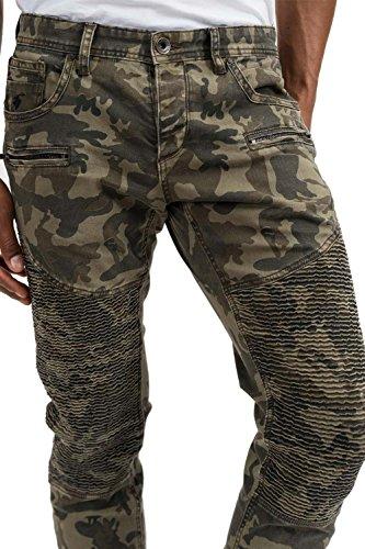 trueprodigy Casual Herren Marken Jeanshose mit Stretch, Hose cool und stylisch Denim vintage (destroyed & Slim Fit), Jeans für Männer in Farbe: Grün 6273101-0629-28/2, Farben:Khaki, Größe:W29 L34