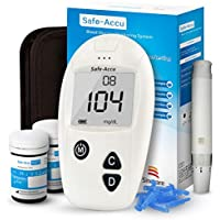 Glucosa en sangre kit de Safe Accu control de la diabetes kit de prueba de azúcar en sangre kit Codefree Pack 50 tiras para diabéticos-en mg/dL