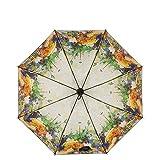 JUNDY Regenschirm, Mini Umbrella Leicht,Taschenschirm, faltender Visier-Sonnenschutz- Durchsichtiger Sonnenschirm dreifach faltbar Sonnenschutzfarbe10 99cm
