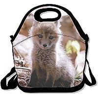 Preisvergleich für Lunch Tote Baby Fox Lunch-Boxen Lunchpaket Handtasche Lebensmittel Aufbewahrung passend für Schule Reisen Arbeit Outdoor
