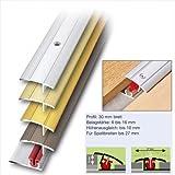 Übergangsprofil Aluminium Alu Profil Schiene 100 x 3 cm Alu silber