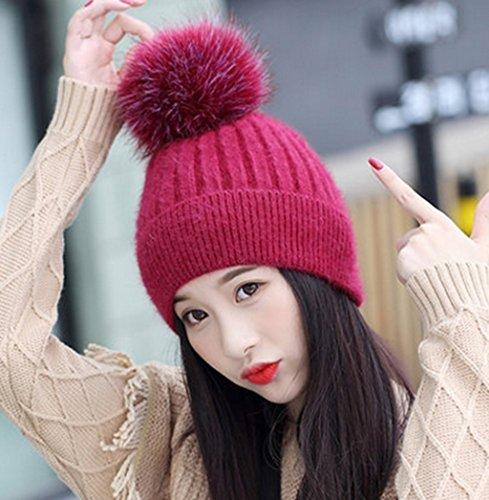 Chapeau Femmes Hiver Tide Cap Version Coréenne Chapeau De Lapin Sauvage Mme Corée Automne Hiver Gardez Chaud Chapeau D'oreille À Tricoter ( couleur : # 6 ) # 3