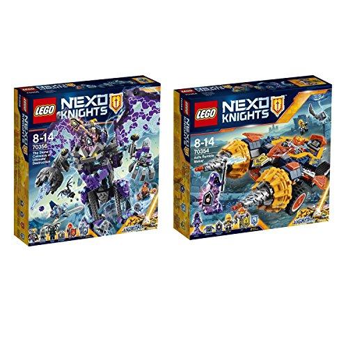 Preisvergleich Produktbild Lego NEXO Knights 2er Set 70354 70356 Axls Krawallmacher + Der sturmische Steinkoloss