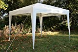 Airwave 3x3mtr Pop Up Waterproof Gazebo in Cream with 2 WindBars and 4 Leg Weight Bags