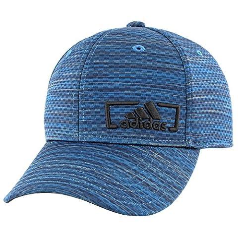 adidas Mens Amplifier Stretch Fit Cap, Core Blue Looper Print, Large/X-Large