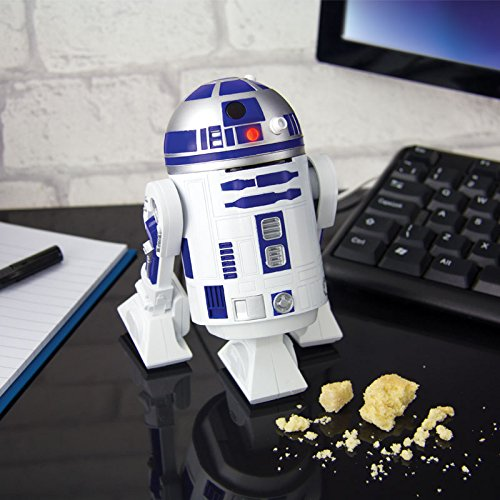 Robottino R2-D2 STAR WARS Mini ASPIRAPOLVERE USB per Desktop Scrivania Ufficiale ORIGINALE