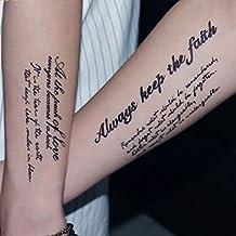 Amazones Tatuajes Temporales Letras