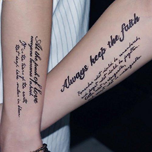 Tatuaggi temporanei, per donne e uomini (lingua italiana non garantita)