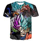 Beiläufiges Kurzarm T-Shirt Dragon Ball Z T-Shirt Herren 3D T-Shirt Super Saiyajin Goku Brolly Gedruckt Top T-Shirt Camiseta Hombre (Farbe : #20, größe : 3XL)