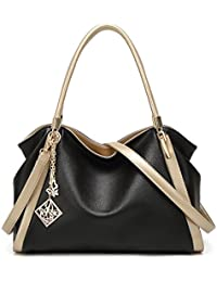 VANCOO Womens Handtaschen Damen Designer Schultertasche PU Leder 3 Fächer Tote New Celebrity Style Large